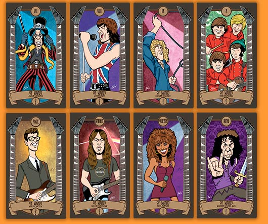 Classic Rock Tarot Cards